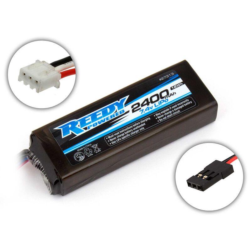 7.4V 2400mAh 2S Reedy LiPo Transmitter & Receiver Battery