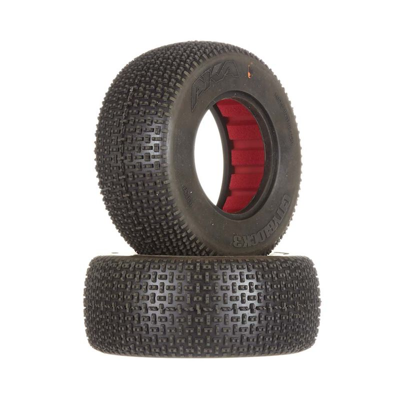 1/10 Cityblock 3 SC Wide Super Soft Front/Rear Tire with Red Inserts (2)