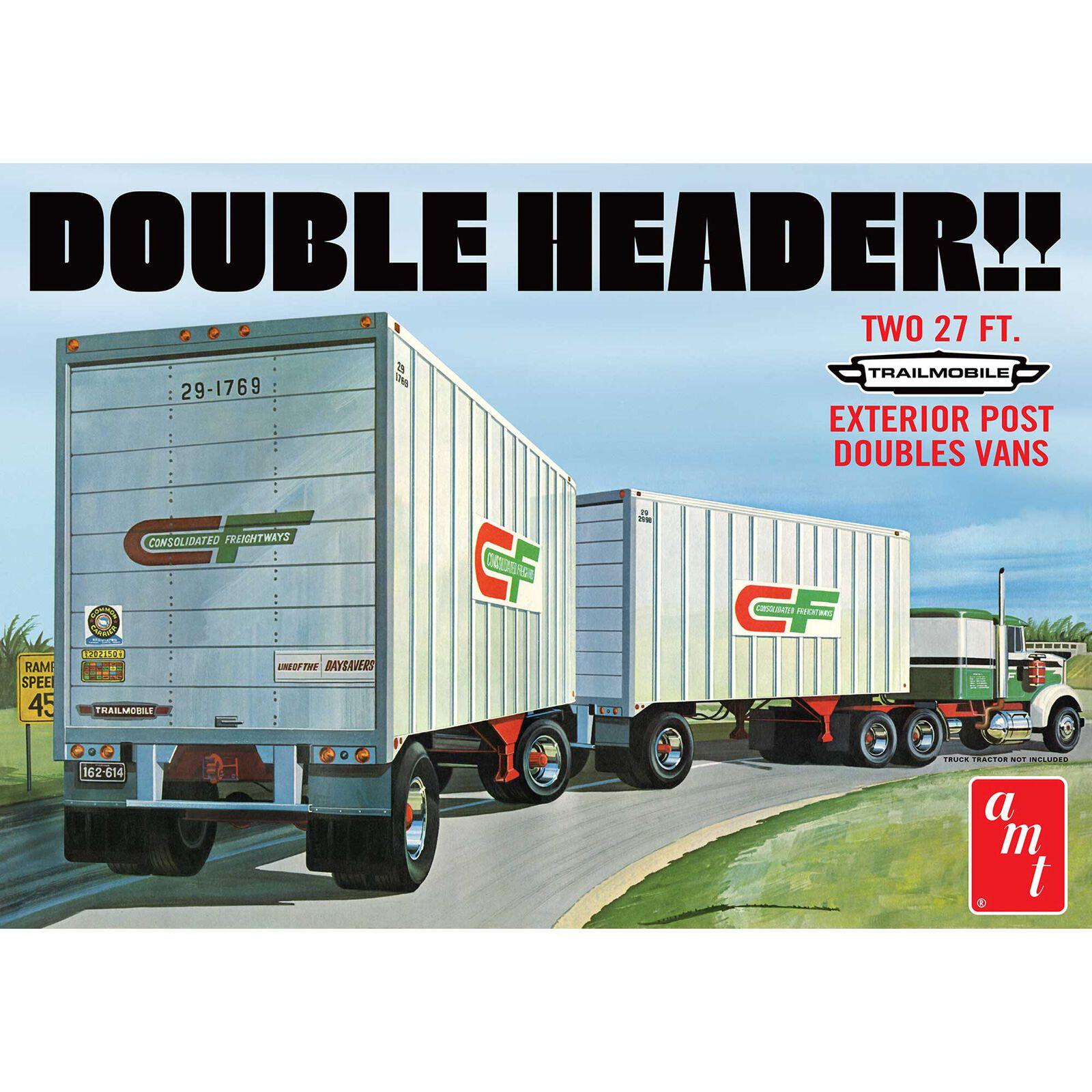 1/25 Tandem Van Trailers Double Header
