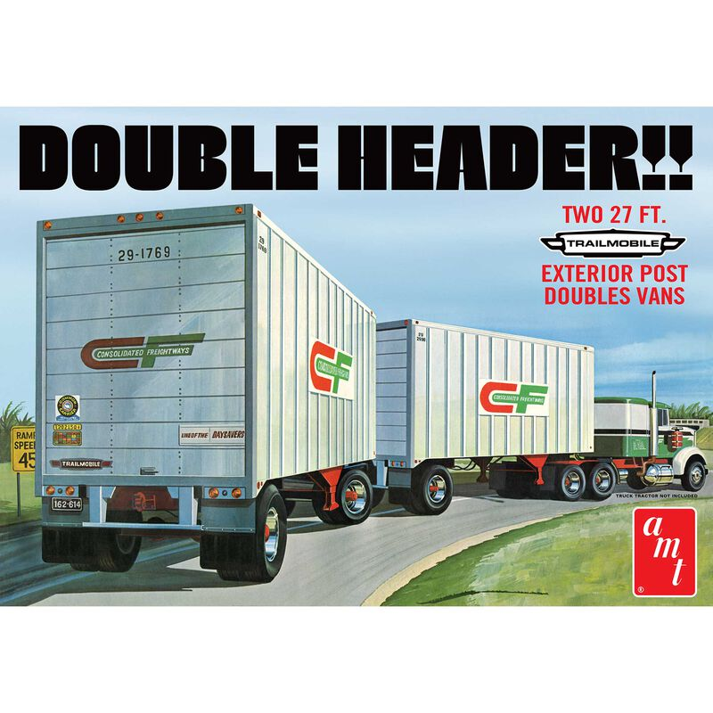 1/25 Tandem Van Trailers Double Header