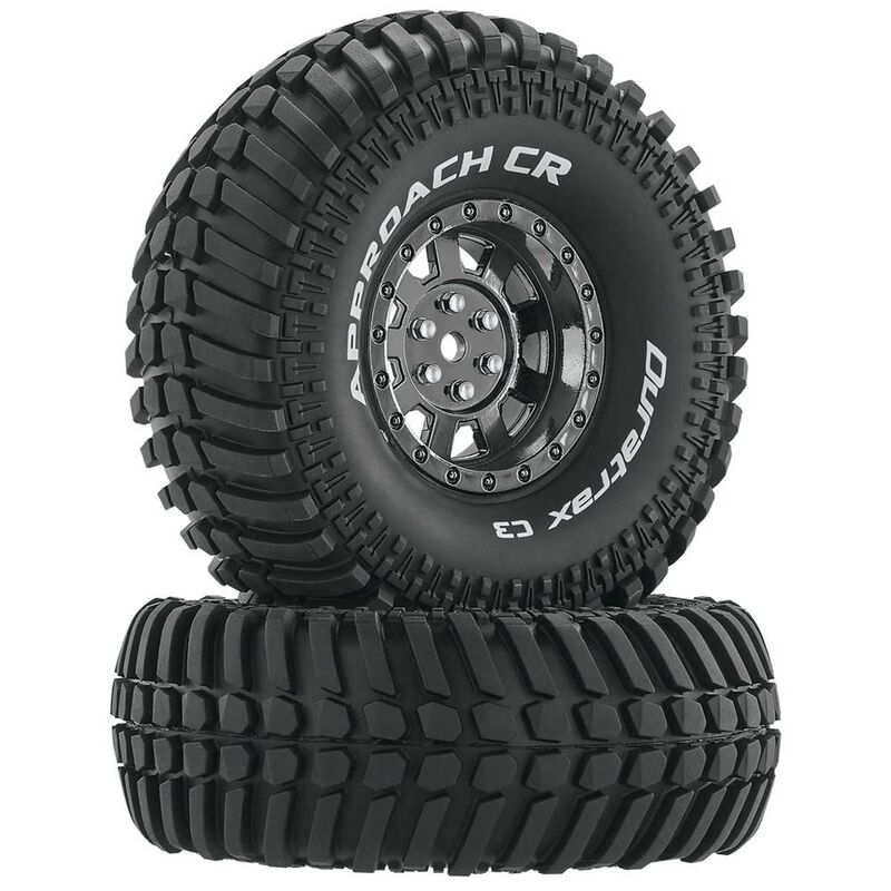 "Approach CR C3 Mounted 1.9"" Crawler Tires, Black Chrome (2)"