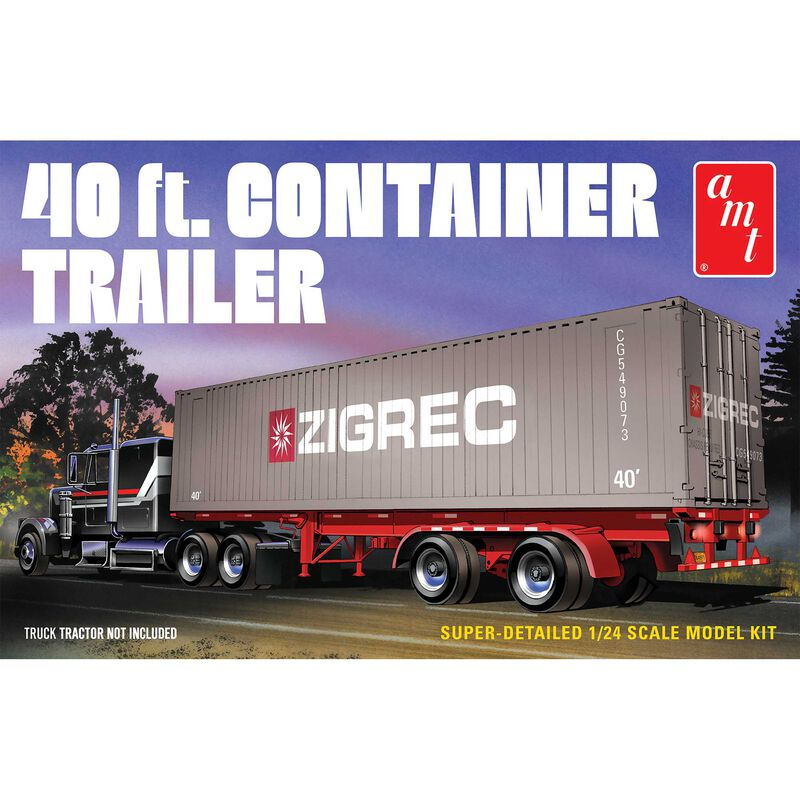 1/24 40' Semi Container Trailer