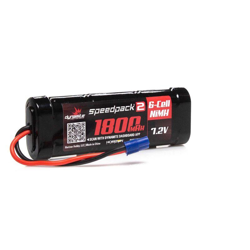 7.2V 1800mAh 6-Cell Speedpack2 Flat NiMH Battery: EC3