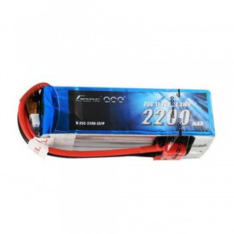 11.1V 2200mAh 3S 25C LiPo Battery, Deans