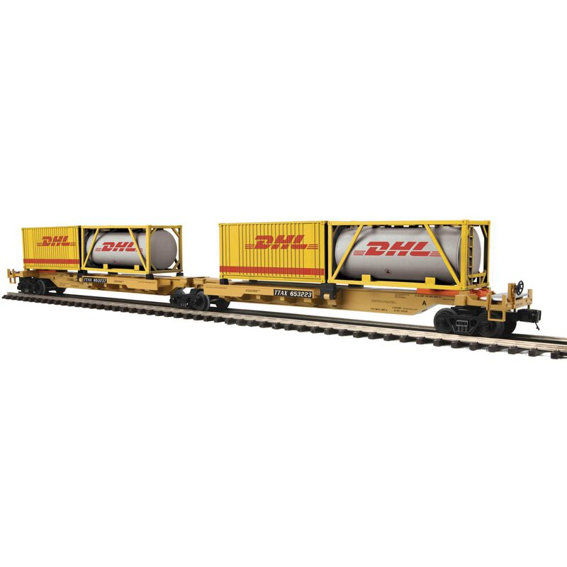 O Spine Car w 2 Containers TTX #653223 (2)