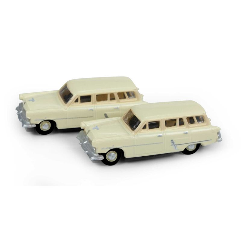 N 1953 Ford Station Wagon, Sungate Ivory(2)
