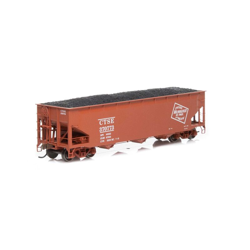 HO RTR 40' 3-Bay Offset Hopper with Load MILW #370773