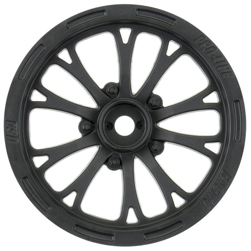 "1/10 Pomona Front 2.2"" Wheels Drag 12mm (2) Black"