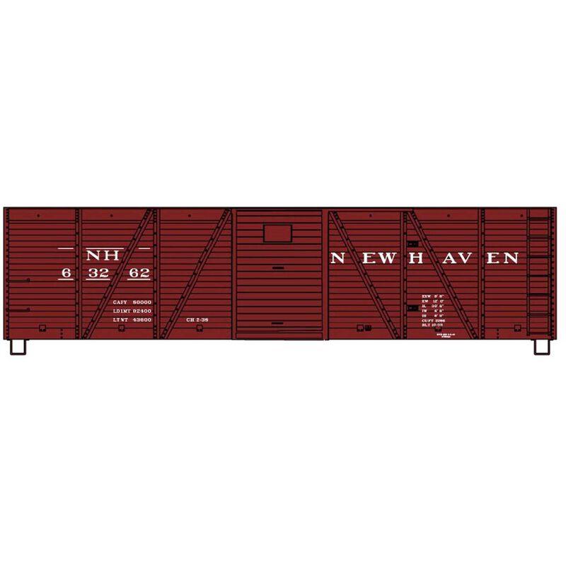 HO KIT 40' Wood OB Box w Steel Ends NH