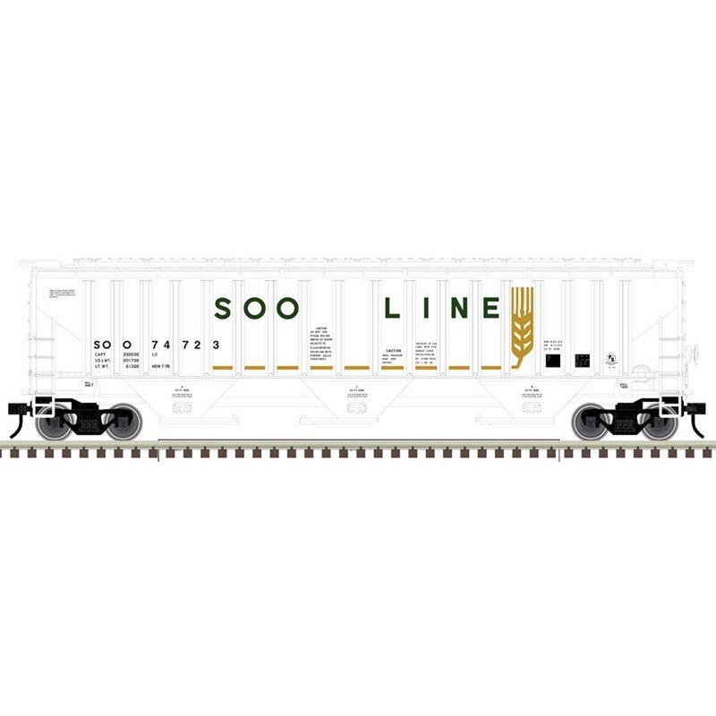 O Trainman PS 4750 Covered Hopper, SOO