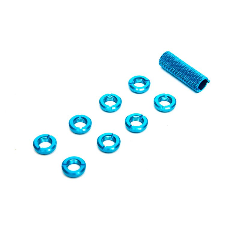 Radio Blue Switch Nuts (8) & Wrench