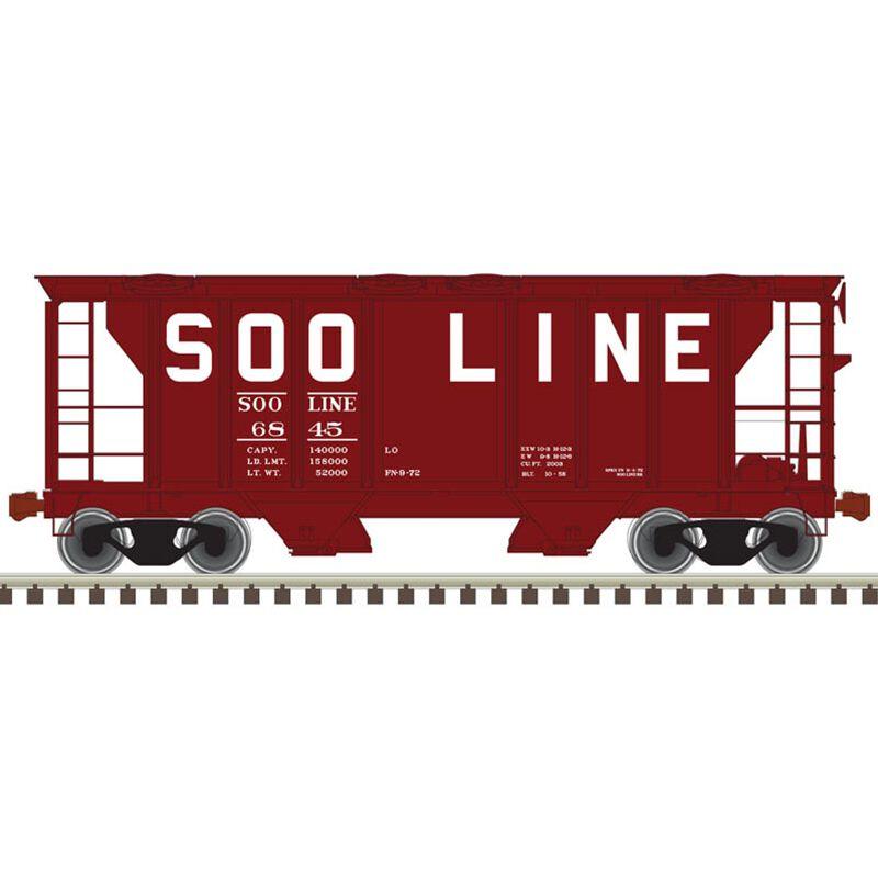 HO Trainman PS-2 Covered Hopper SOO #6879