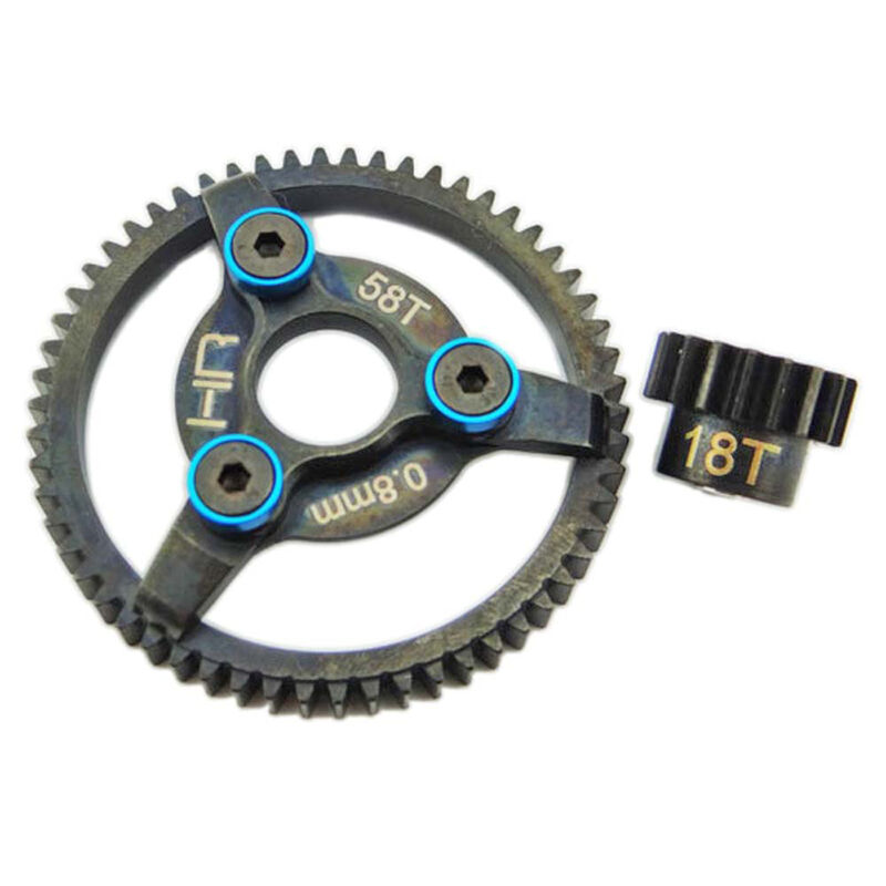 Brushless Steel 32P Pinion and Spur Gear Set 18T/58T