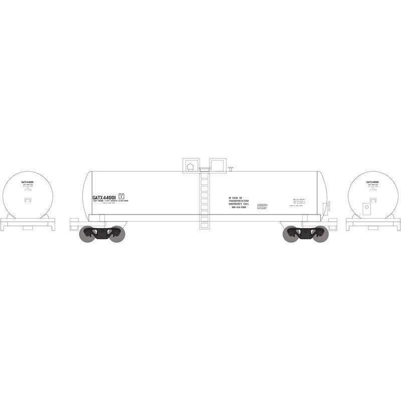 N 20,000-Gallon GS Tank GATX, White Gen Srv #44001
