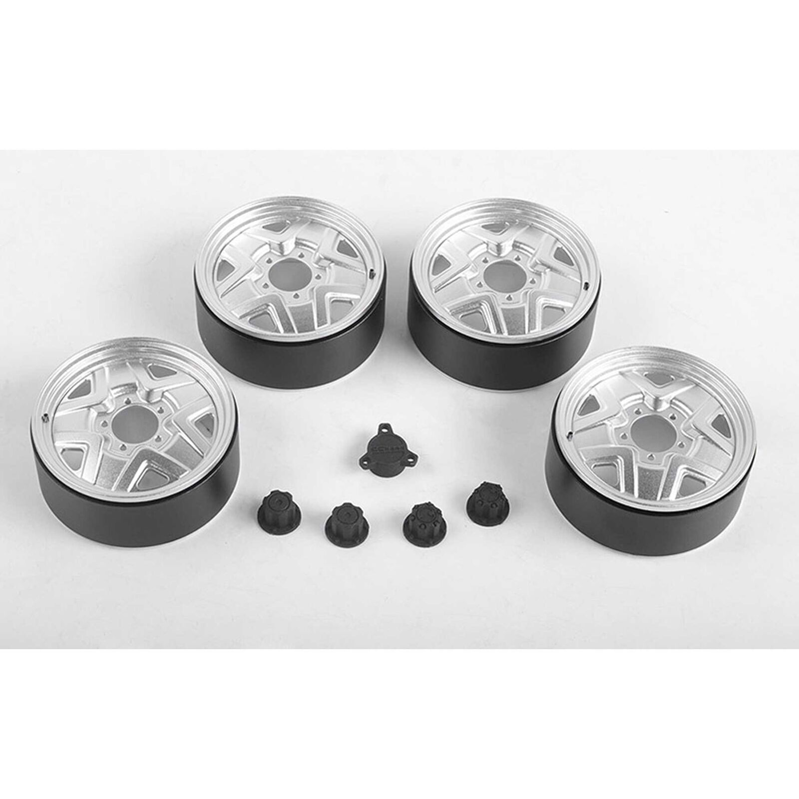 1/6 Wakizashi 2.8 Wheels with Hub Caps for Capo Racing Samurai, Aluminum (4)