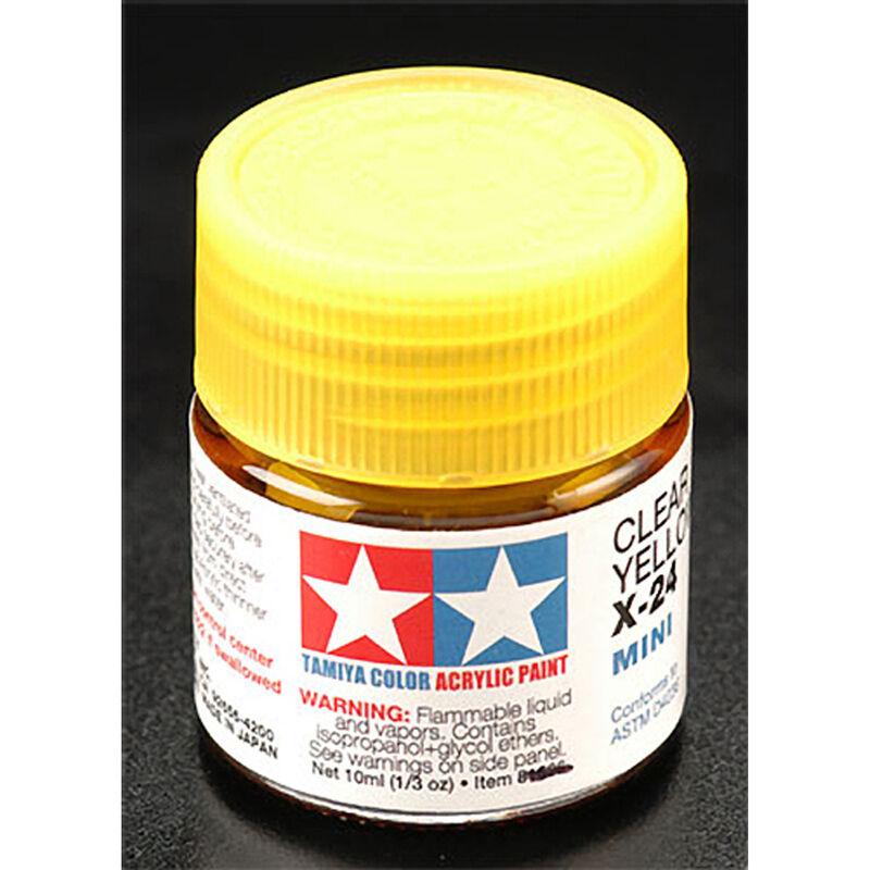 Acrylic Mini X24, Clear Yellow