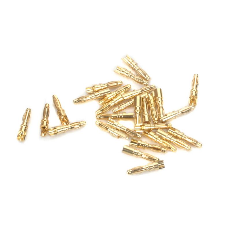 Connector: Gold Bullet Male, 2mm (30)