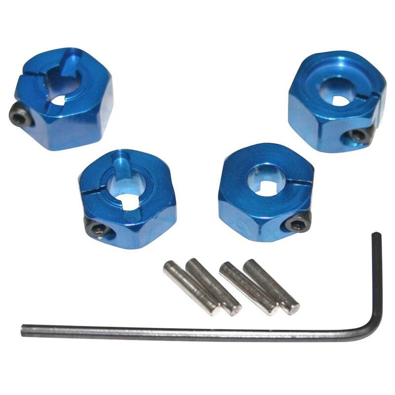 Blue Aluminum 12mm Wheel Hex 2WD (4)