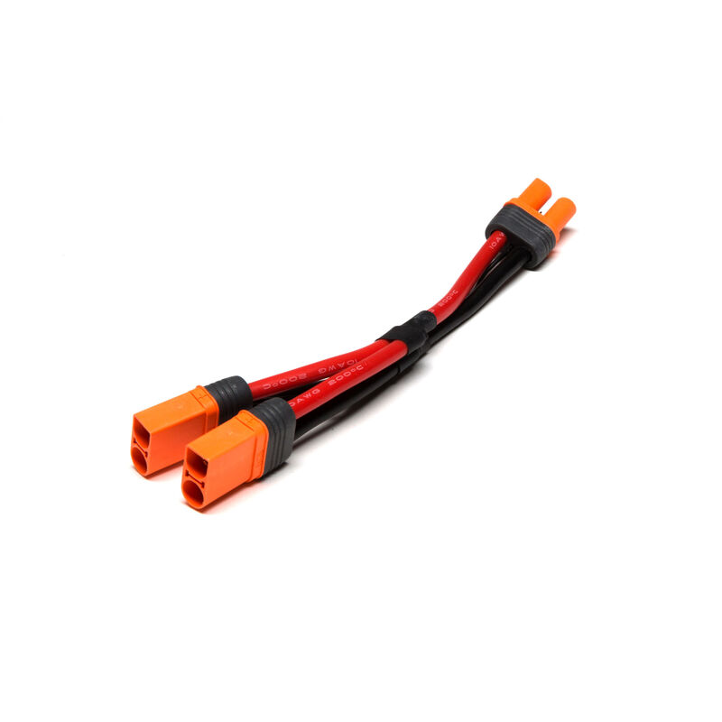 "Parallel Y-Harness: IC5 Battery with 6"" Wires, 10 AWG"