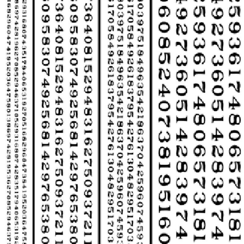 Railroad Roman Numbers, Black