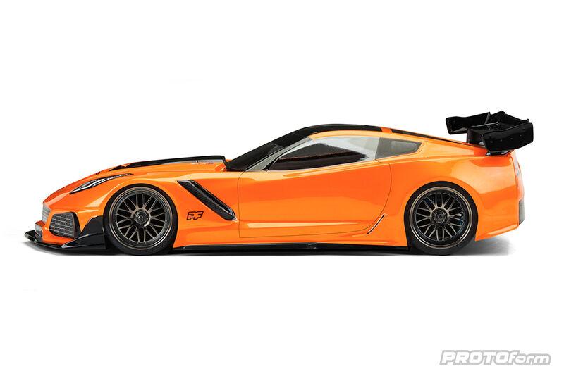 1/10 Chevrolet Corvette ZR1 Light Weight Clear Body: 190mm Touring Car