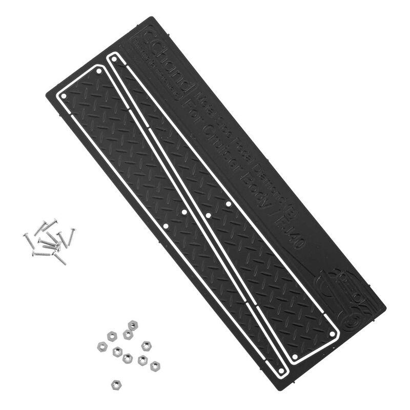 Metal Side Diamond Plates, Black (B): Cruiser Body