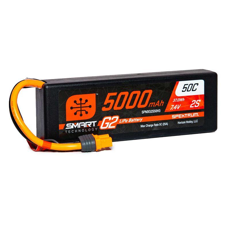 7.4V 5000mAh 2S 50C Smart LiPo G2 Hard Case: IC3