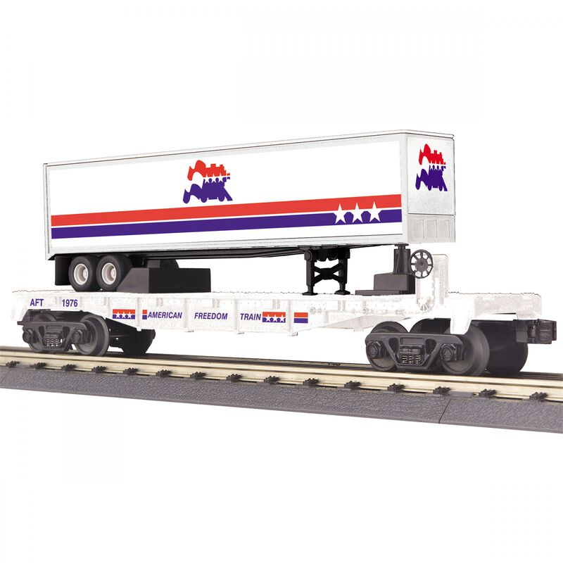 O-27 Flat Car with 40' Trailer American Freedom