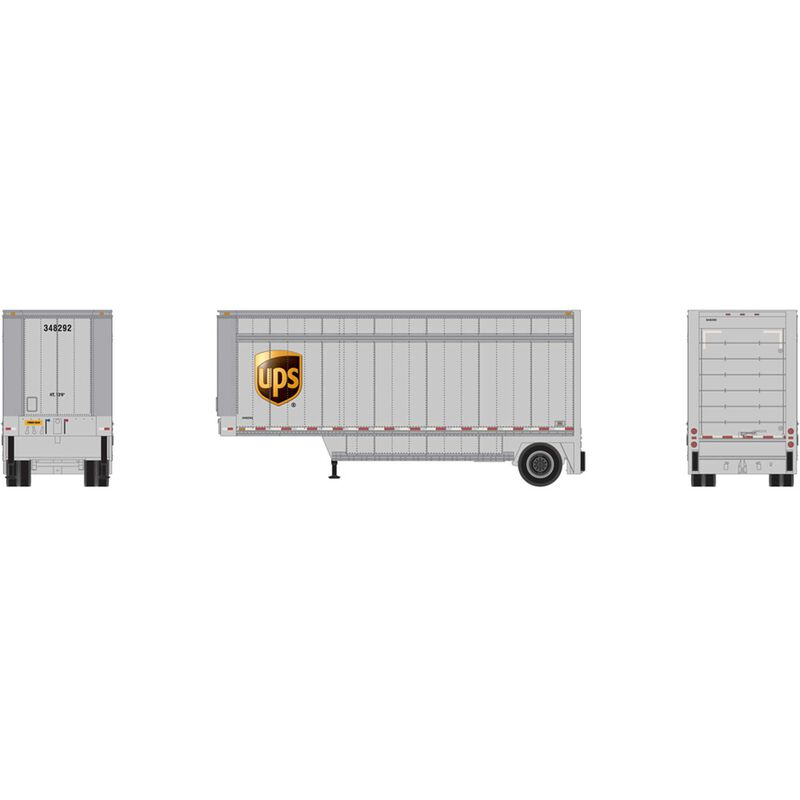 HO RTR 28' Drop Sill Trailer UPS with Shield #348292