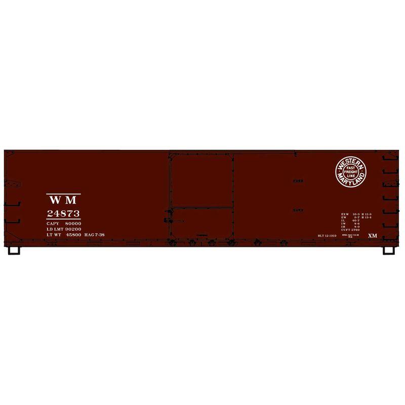 HO KIT 40' USRA Wood Double Sheathed Box WM
