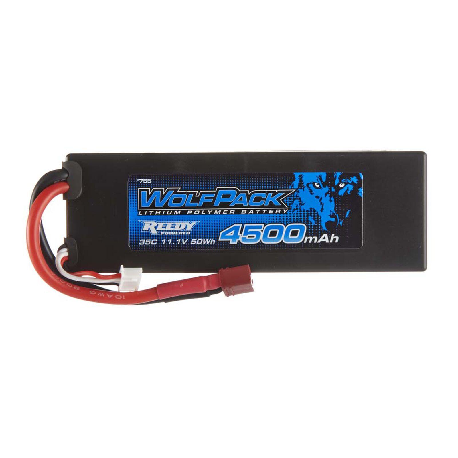 11.1V 4500mAh 3S 35C WolfPack LiPo Battery