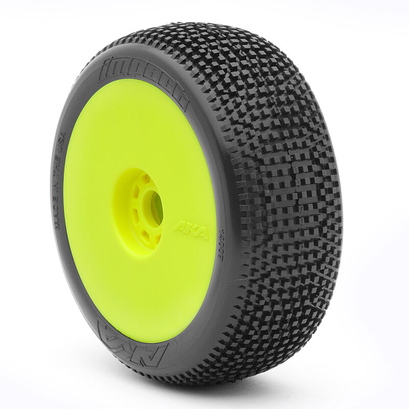 1/8 Impact EVO Super Soft Front/Rear Wheel Mounted, Yellow: Buggy (2)