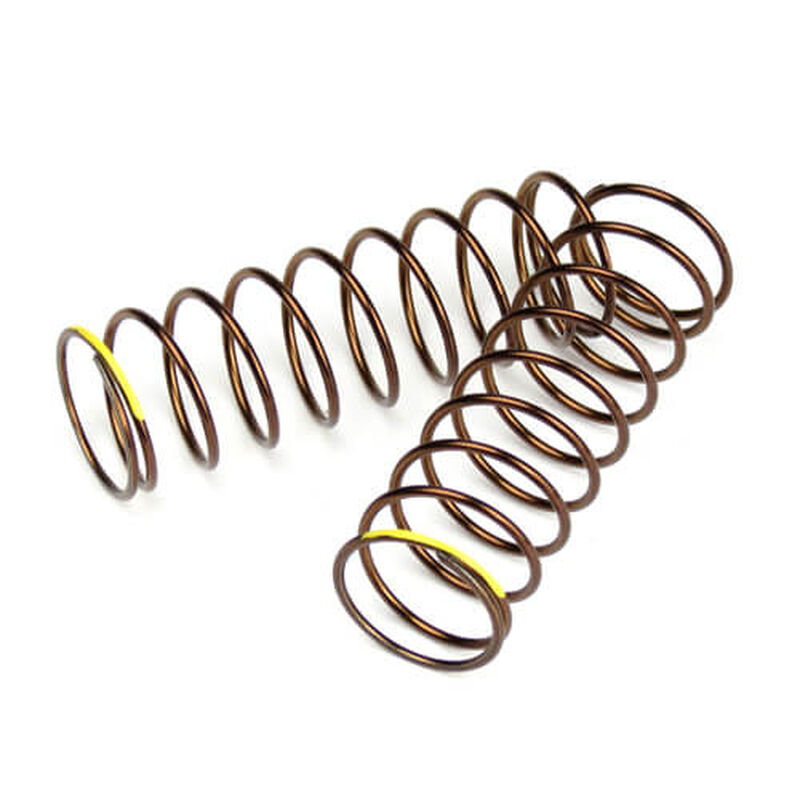 Shock Spring Set Rr 1.3x9.875 2.82lb in 63mm, Yellow