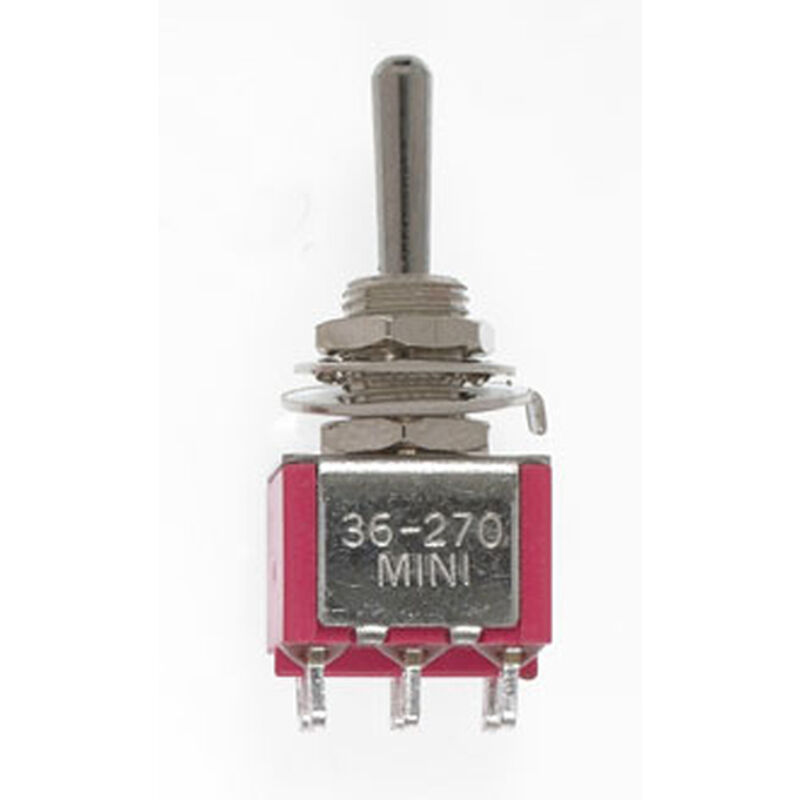 DPDT Mini Toggle Switch, Sprung 5A, 120V (2)
