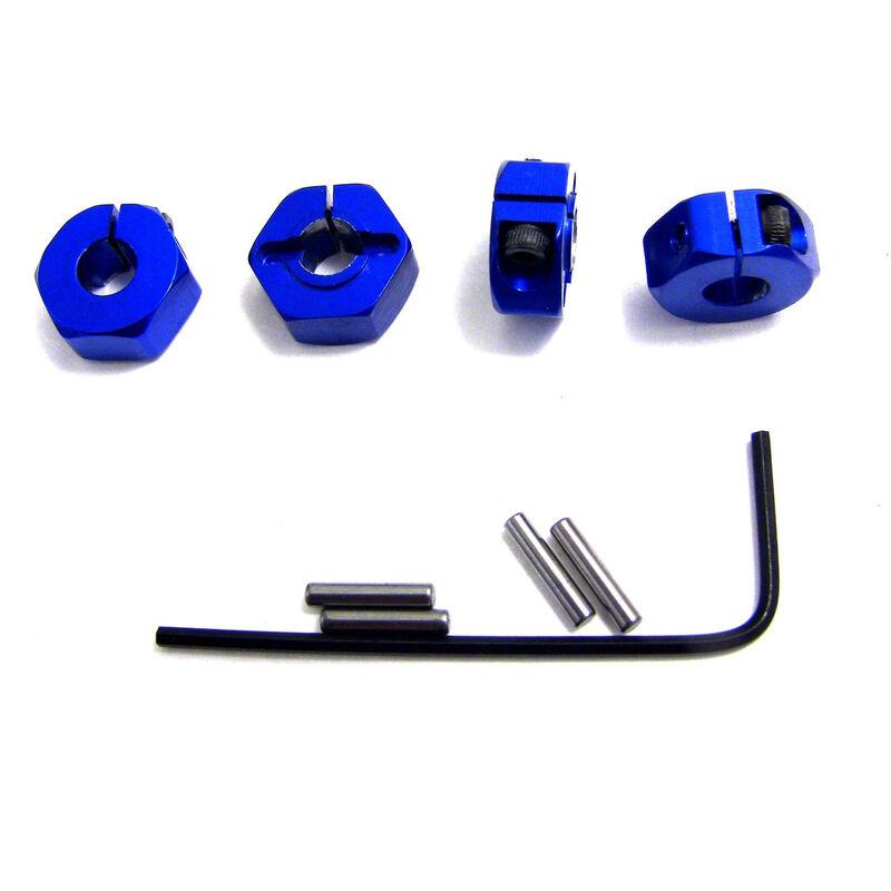 Blue Aluminum Locking 12mm Wheels Hex Kit