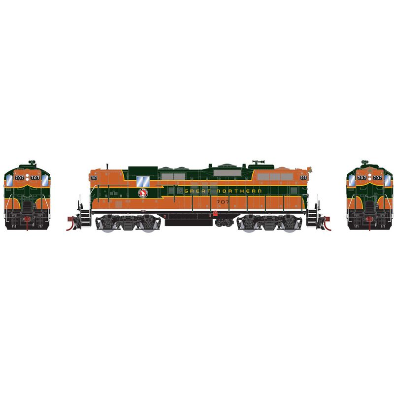 HO GP9 with DCC & Sound GN #707