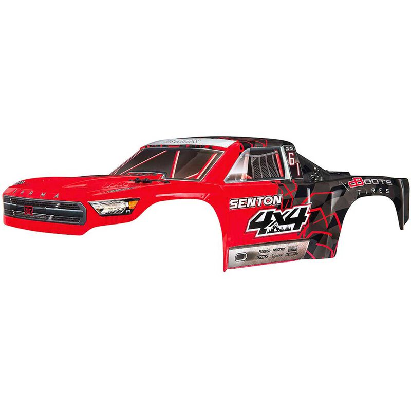 1/10 Painted Body with Decals, Red: Senton 4x4 Mega