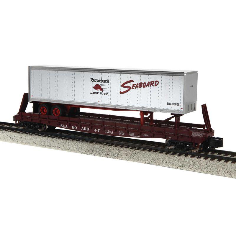S Scale Flat w/48' Trailer, SBD #47128