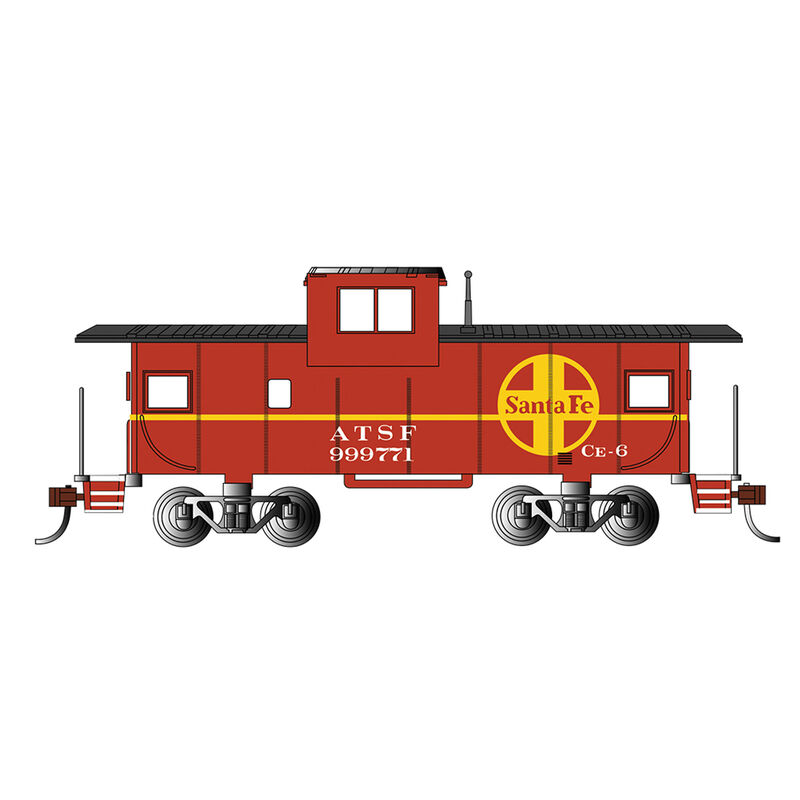 HO 36' Wide Vision Caboose SF Red