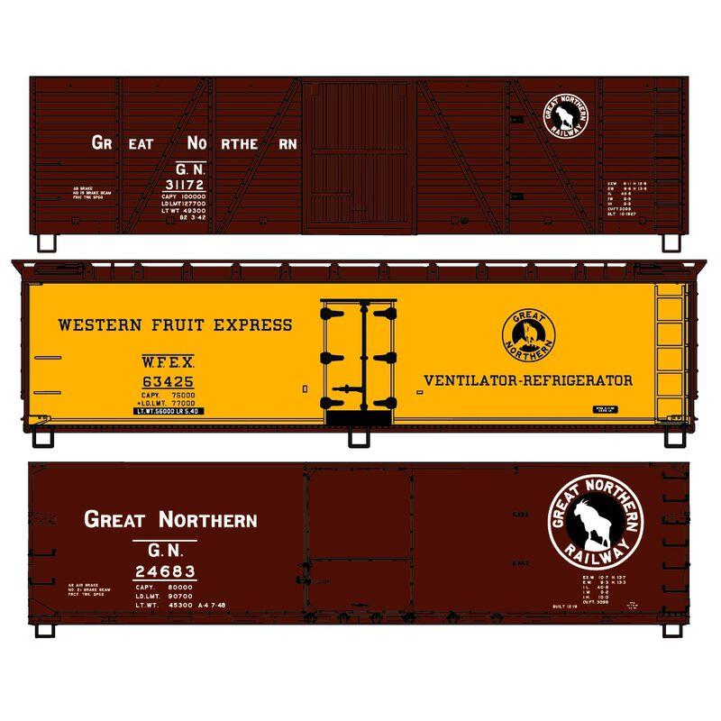 HO KIT 40' Wood Reefer Box GN (3)