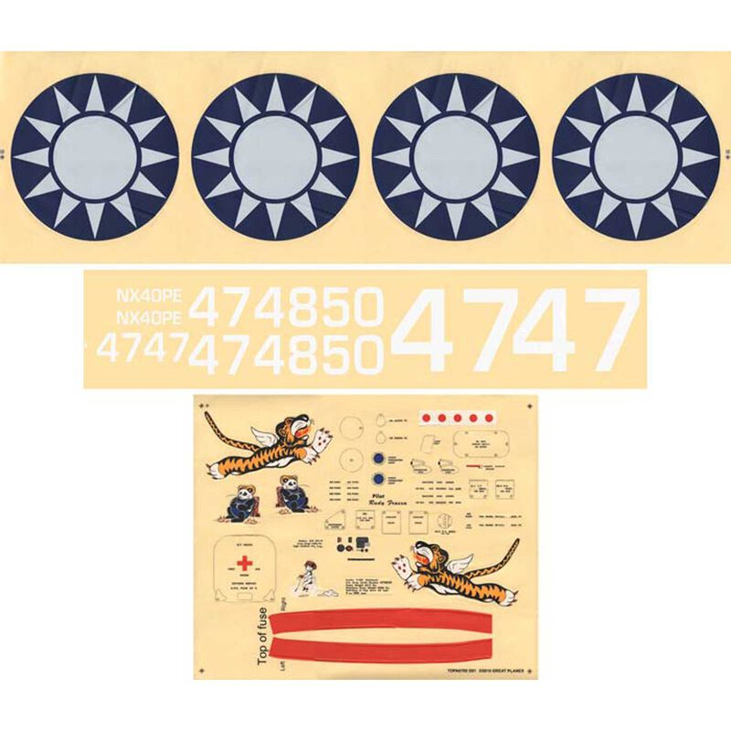 Decal Set: Giant P-40