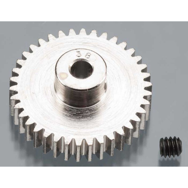 Nickel-Plated 48 Pitch Pinion Gear, 38T