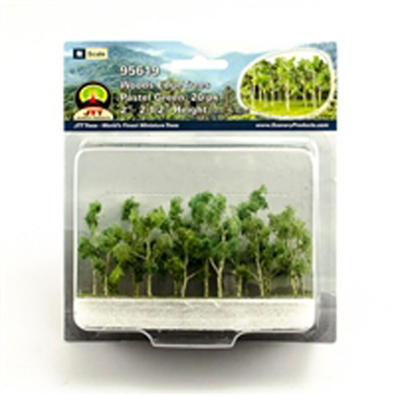 "Woods Edge Trees Pastel Green 2-2.5"" (20)"