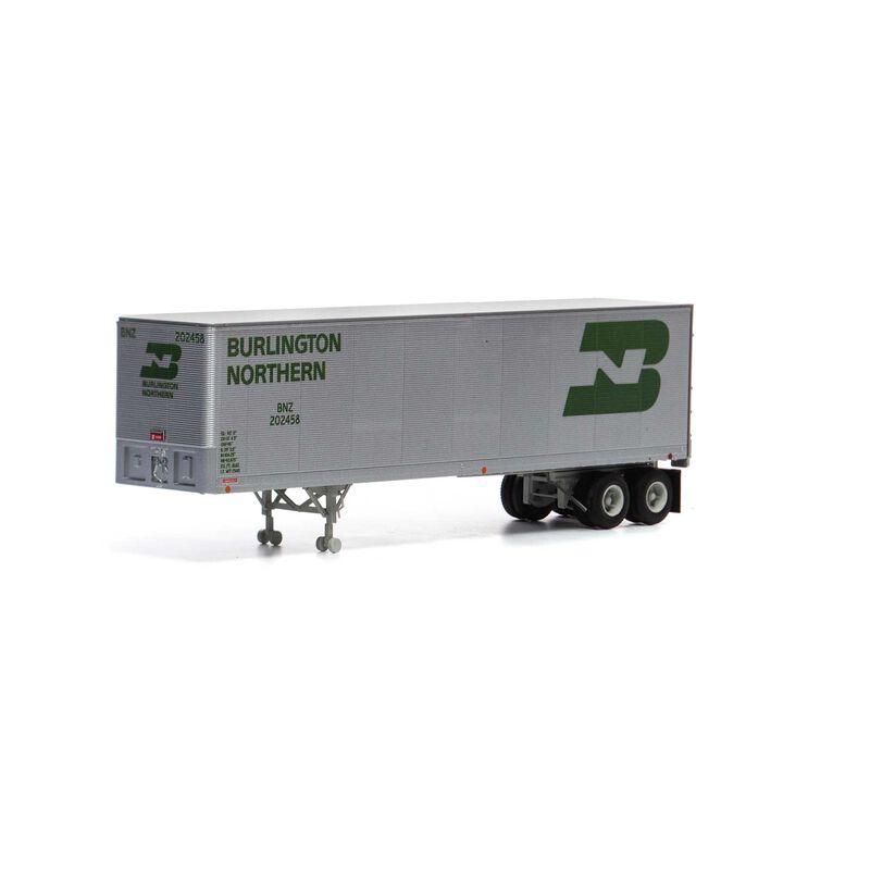 HO RTR 40' Fruehauf Z-Van Trailer BN #202458