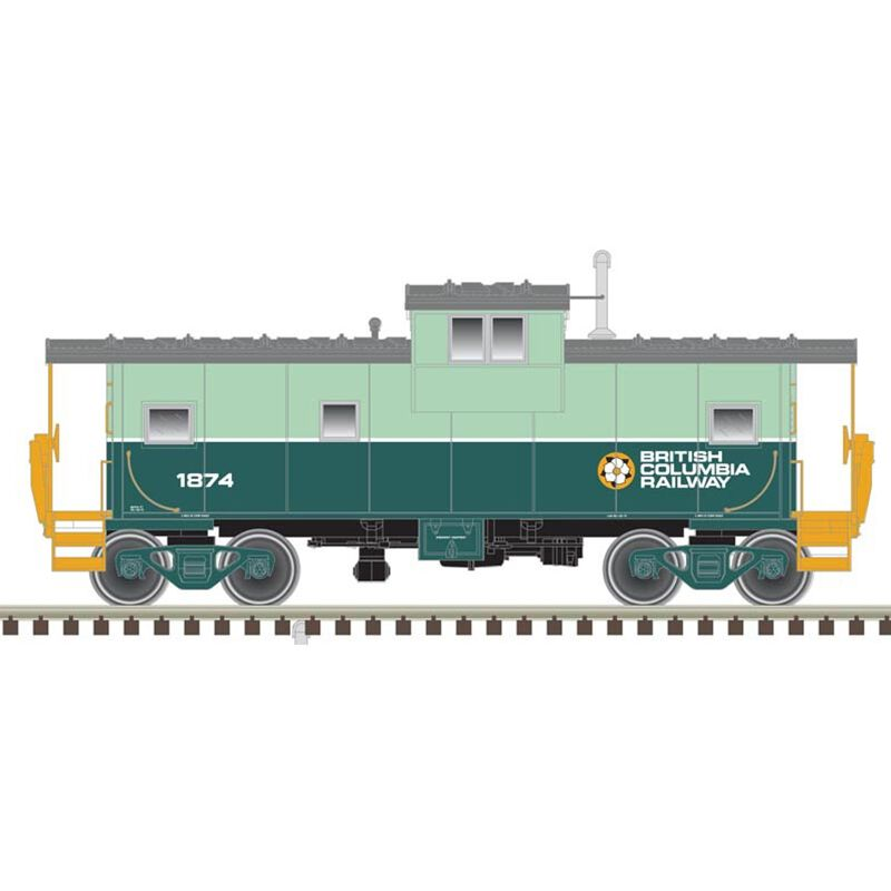 HO Extended Vision Caboose BCR #1874