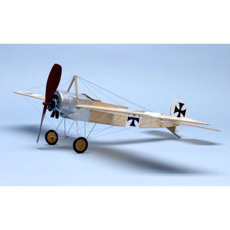 """Fokker E.II Walnut Scale S Rubber Powered Kit, 17.5"""""""