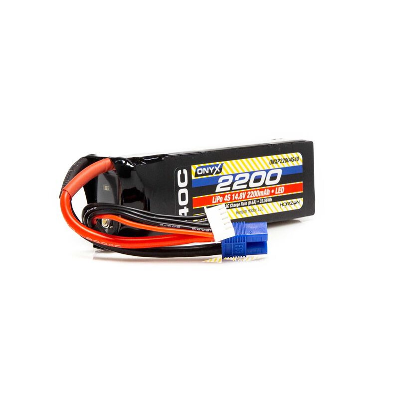 14.8V 2200mAh 4S 40C LiPo Battery: EC3