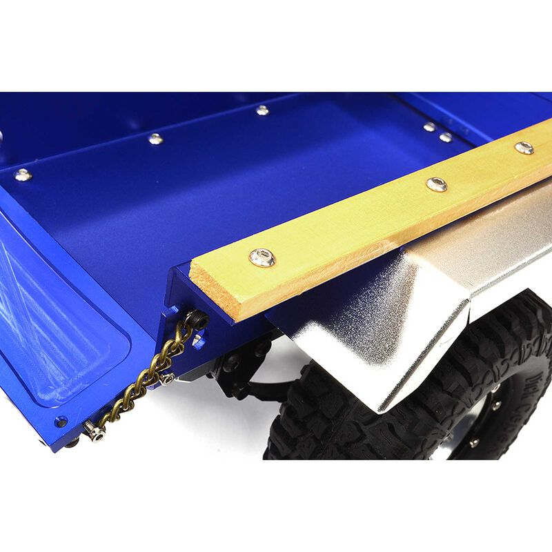 Leaf Spring 1/10 Size Utility Box Trailer, Blue