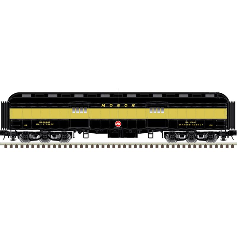 N Trainman 60' Passenger Car Set MONON (5)