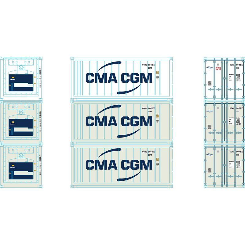HO RTR 20' Reefer Container CMA CGM (3)